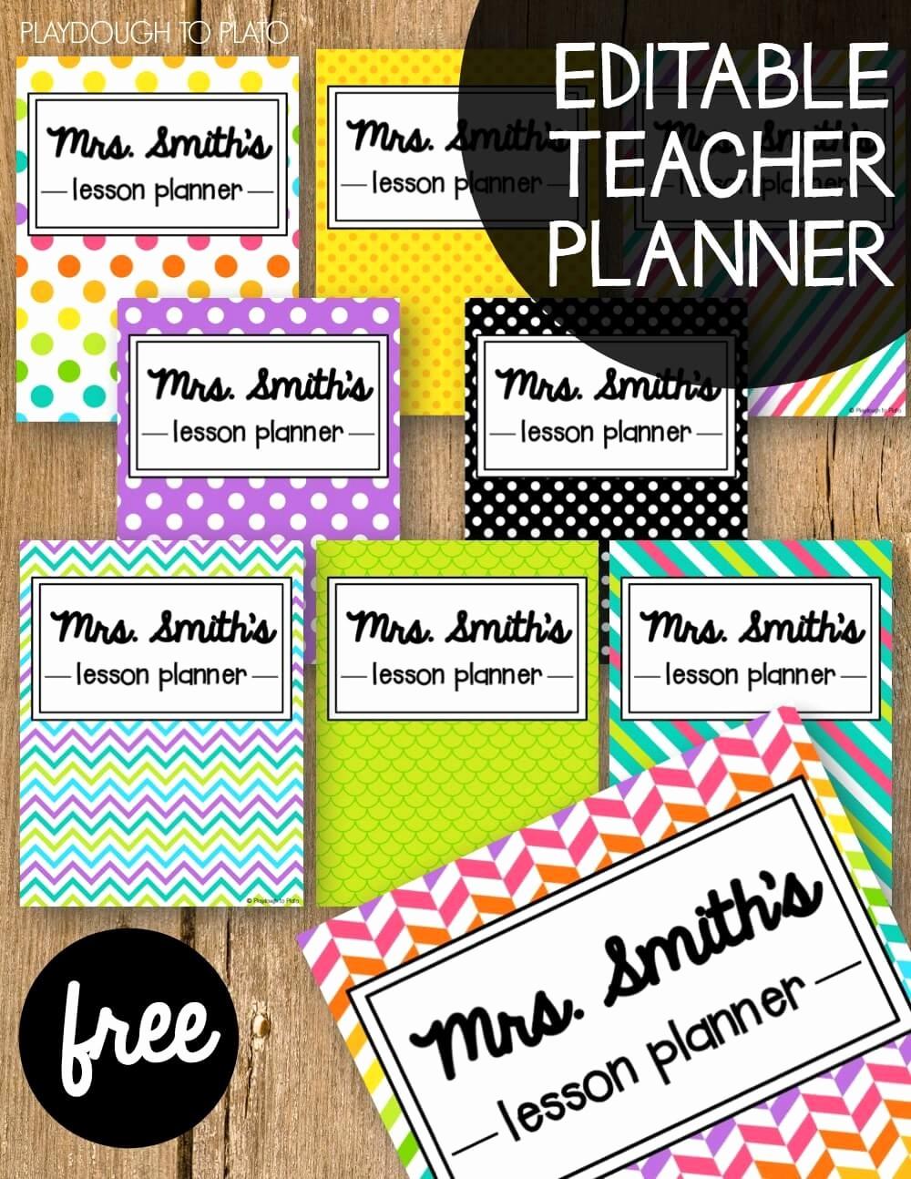 Teacher Weekly Planner Template Download Beautiful Free Teacher Planner Playdough to Plato