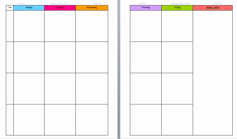 Teacher Weekly Planner Template Download Fresh Free Printable Calendars for Teachers Calendar Template 2018