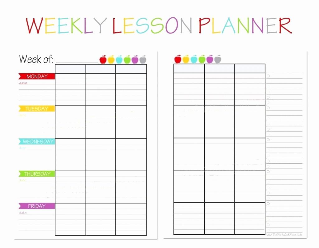 Teacher Weekly Planner Template Download Fresh Printable Teacher Planning Sheets