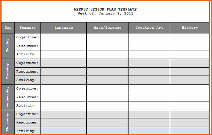 Teacher Weekly Planner Template Download Luxury 7 Teacher Lesson Plan Template Bookletemplate