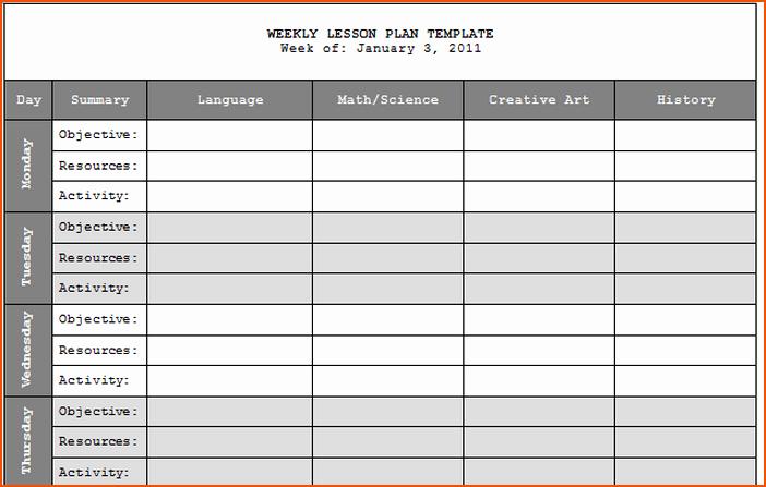 Teacher Weekly Planner Template Download Luxury 7 Teacher Lesson Plan Template Bookletemplate