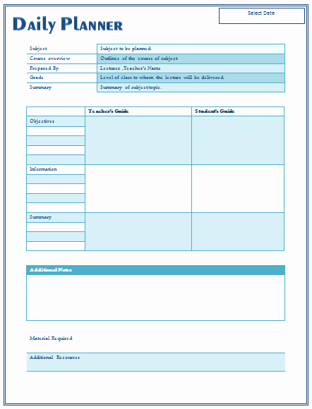 Teacher Weekly Planner Template Download New 14 Free Daily Lesson Plan Templates for Teachers