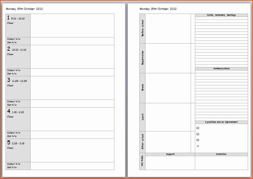 Teacher Weekly Planner Template Download New Teacher Planner Template