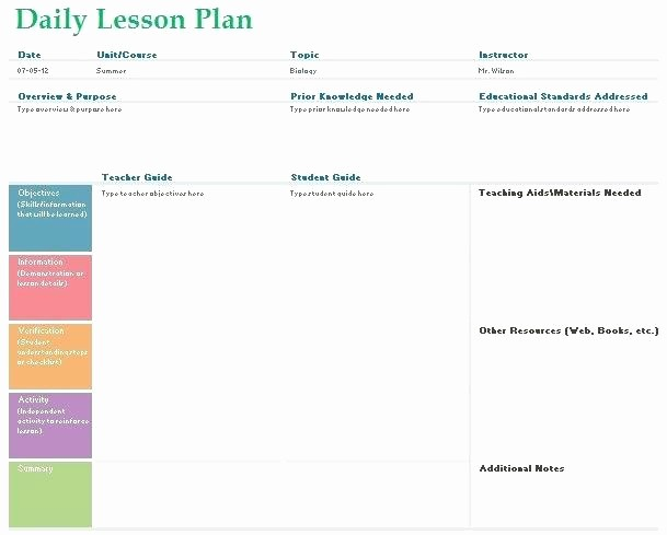 Teacher Weekly Planner Template Download Unique Monthly Lesson Plan Template Excel Teacher Daily Planner