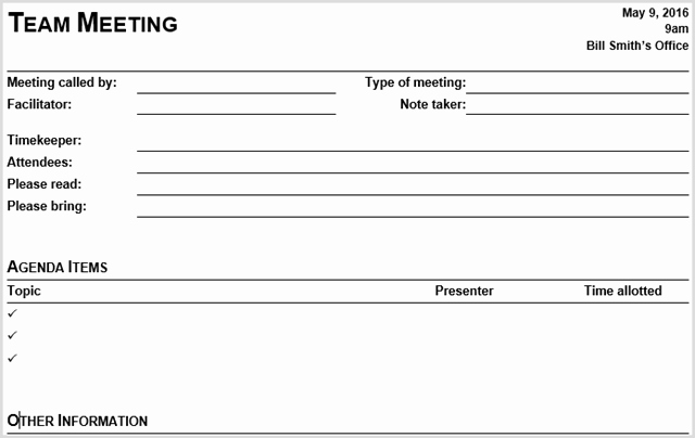 Team Meeting Agenda Template Word Awesome 15 Best Meeting Agenda Templates for Word