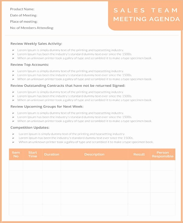 Team Meeting Agenda Template Word Fresh 50 Meeting Agenda Templates Pdf Doc