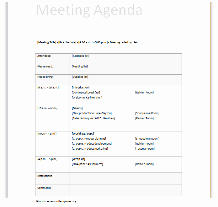 Team Meeting Agenda Template Word Lovely Team Meeting Agenda Template