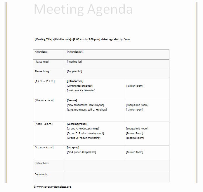 Team Meeting Agenda Template Word Lovely Team Meeting Agenda Template