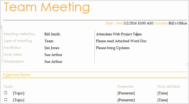 Team Meeting Agenda Template Word Luxury 15 Best Meeting Agenda Templates for Word