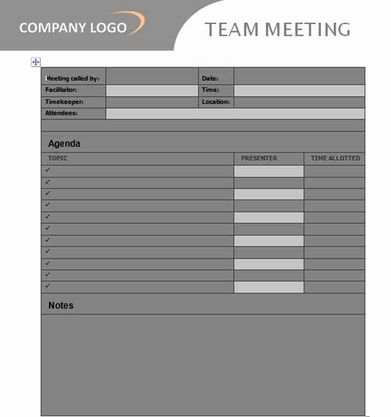 Team Meeting Agenda Template Word Unique Team Meeting Agenda Template Microsoft Word Templates