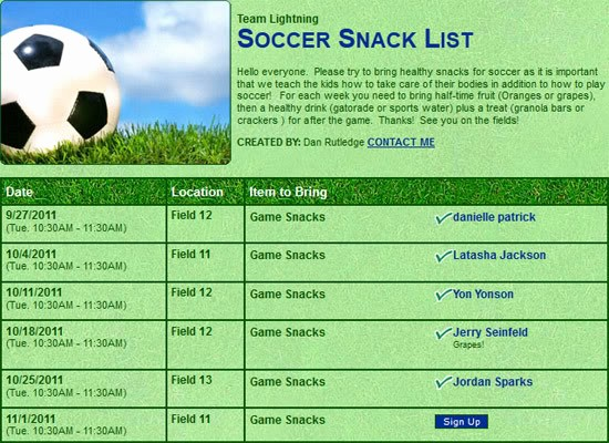 """Team Snack Sign Up Sheet Beautiful Search Results for """"printable Snack Sign Up Sheet"""