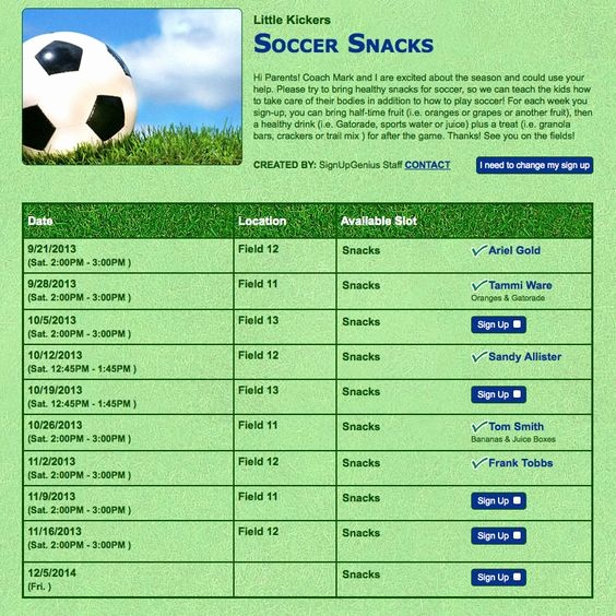 Team Snack Sign Up Sheet Unique Team Snacks Simplified You Ll Never Know Just How Hard