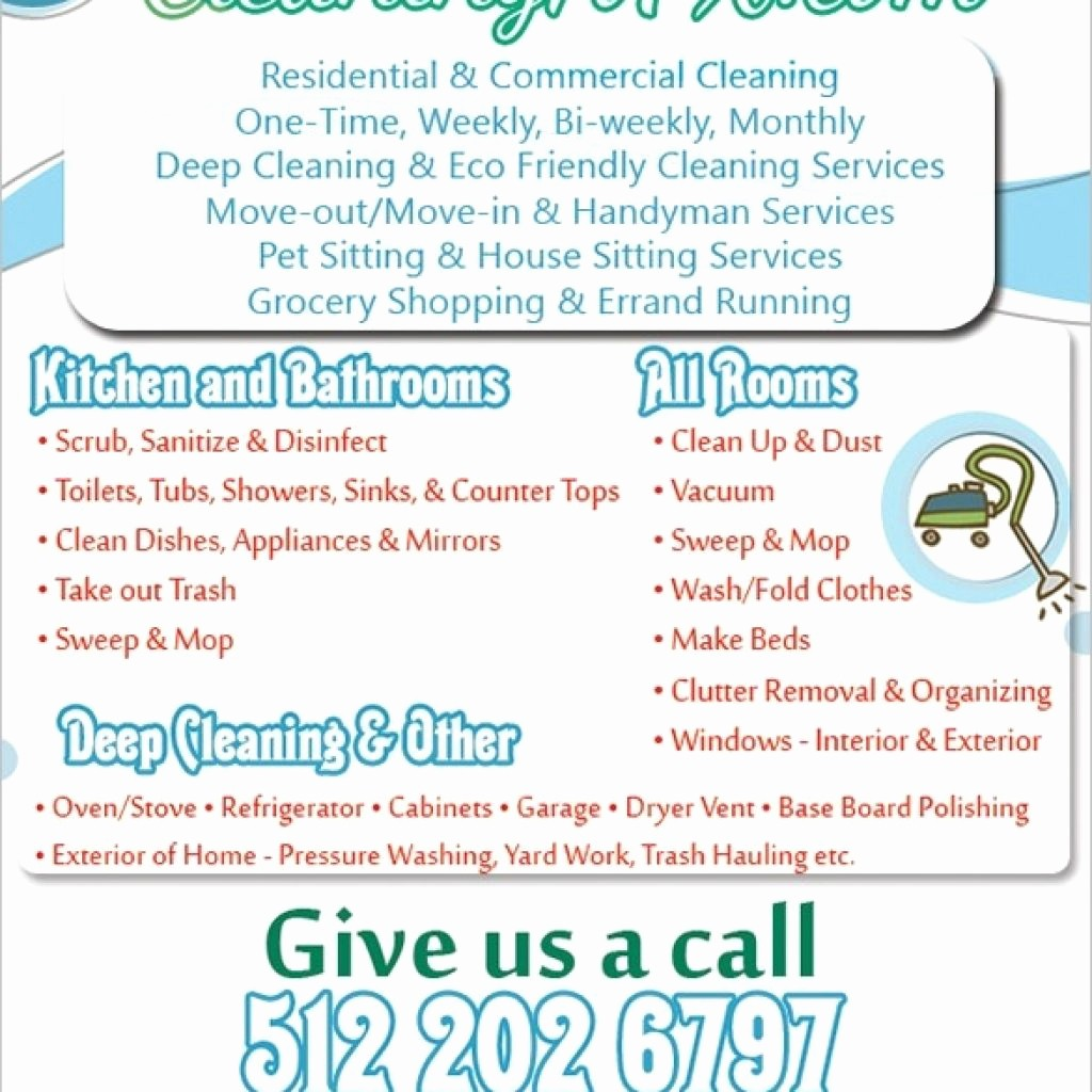 Tear Off Flyer Template Photoshop Inspirational House Cleaning Flyers Templates Yourweek Ea59cceca25e