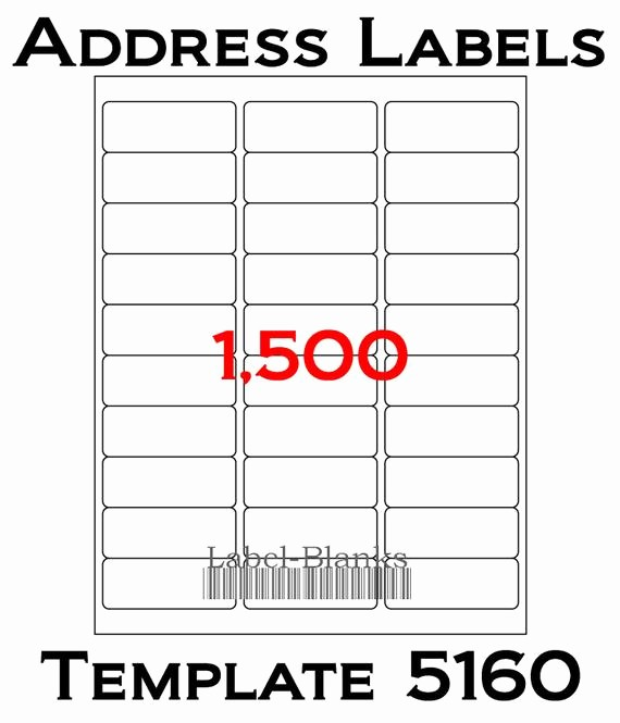 "Template for 5160 Avery Labels Awesome Laser Ink Jet Labels 50 Sheets 1"" X 2 5 8"" Avery"