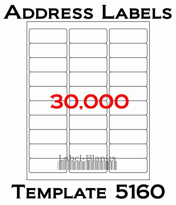 Template for 5160 Avery Labels Lovely Laser Ink Jet Labels 1000 Sheets 1 X 2 5 8