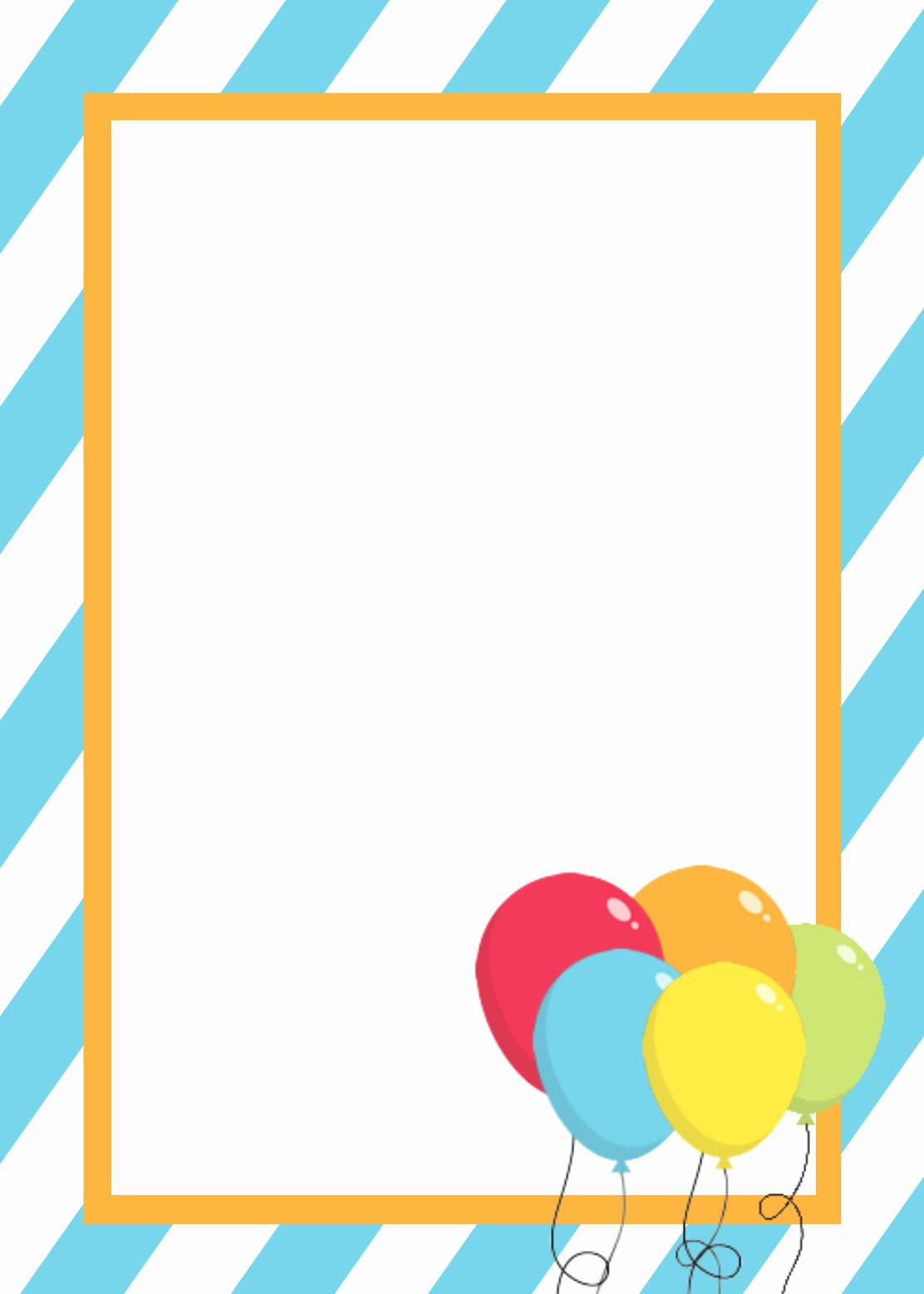 Template for A Birthday Card Awesome Free Printable Birthday Invitation Templates