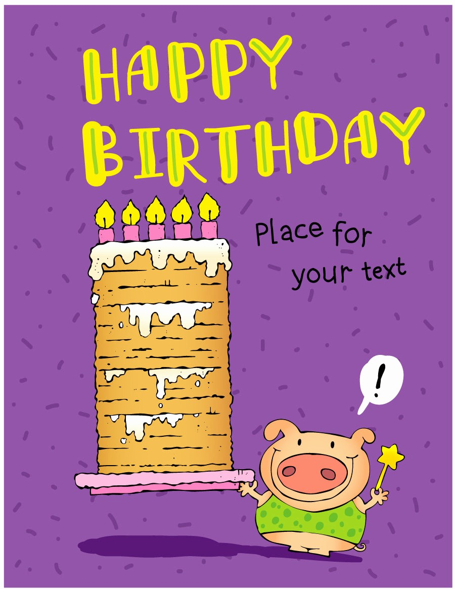 Template for A Birthday Card Beautiful 40 Free Birthday Card Templates Template Lab
