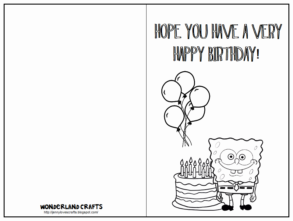 Template for A Birthday Card Best Of 7 Best Of Printable Folding Birthday Cards for Kids
