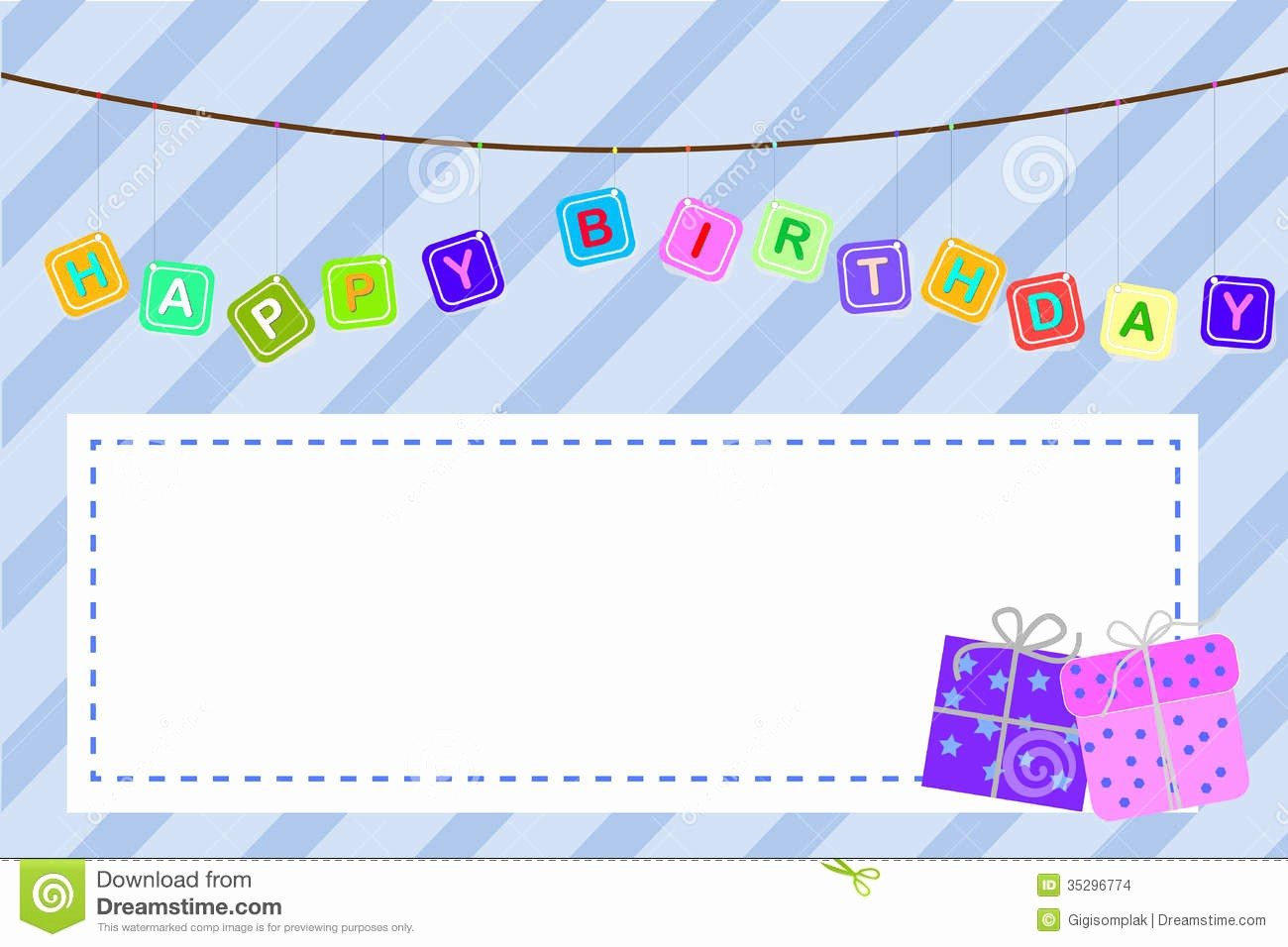 Template for A Birthday Card Best Of Template Baby Birthday Greeting Card Stock Vector