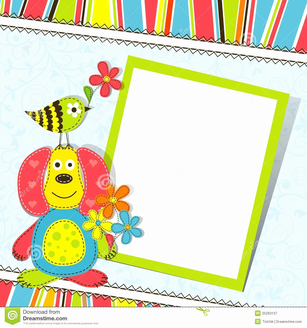 Template for A Birthday Card Best Of Template Greeting Card Stock Vector Image Of Vector