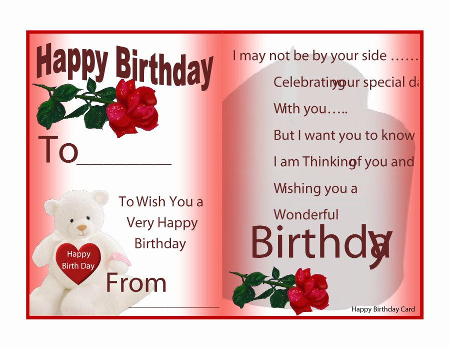 Template for A Birthday Card Elegant 40 Free Birthday Card Templates Template Lab