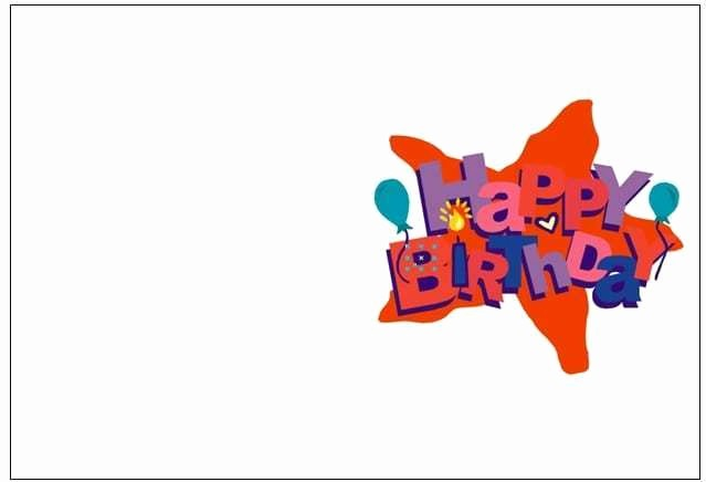 Template for A Birthday Card Elegant 8 Free Birthday Card Templates Excel Pdf formats