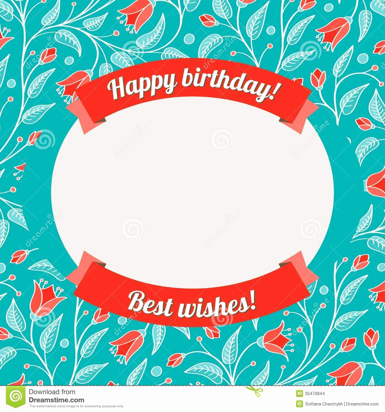 Template for A Birthday Card Elegant Template for Greeting Card Invitation Stock Vector
