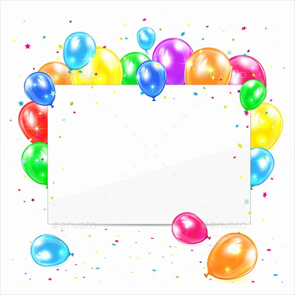 Template for A Birthday Card Fresh 27 Blank Birthday Templates – Free Sample Example