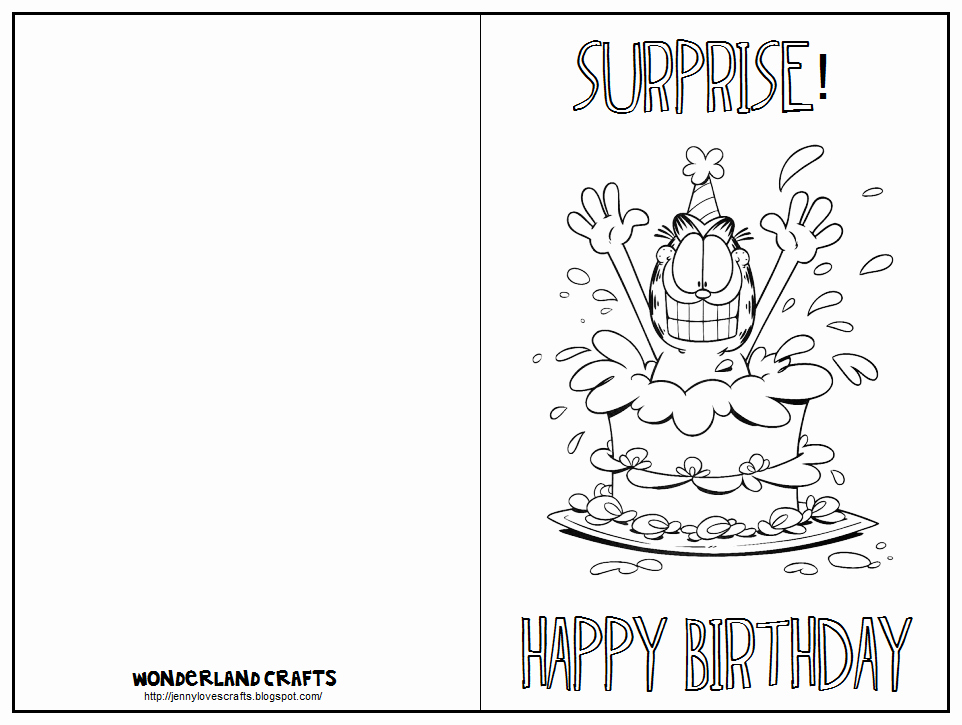 Template for A Birthday Card Lovely Wonderland Crafts Birthday