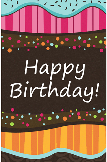 Template for A Birthday Card New Birthday Card Template