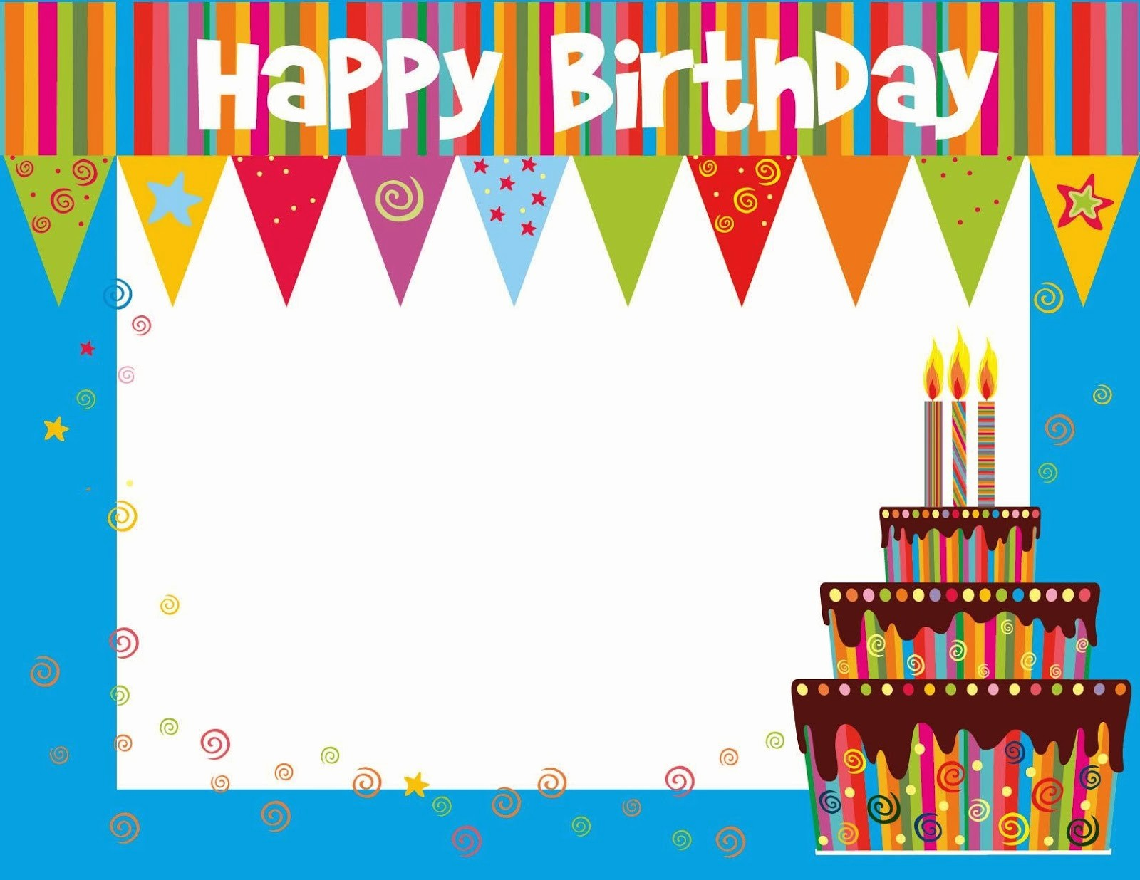 Template for A Birthday Card New Free Printable Birthday Cards Ideas Greeting Card Template