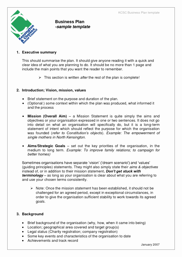 Template for A Business Plan Awesome Free Business Plan Template