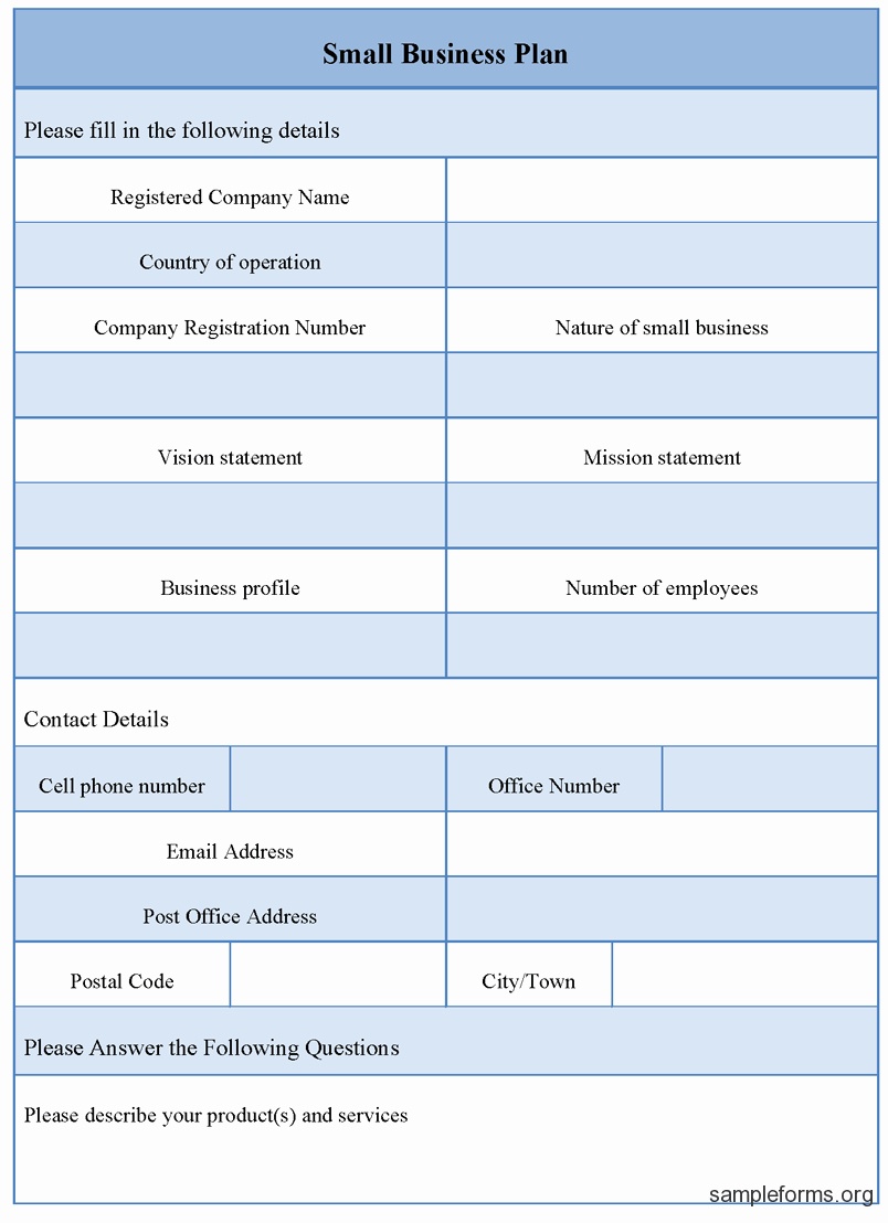 Template for A Business Plan Best Of Small Business Plan Outline Template Pdf