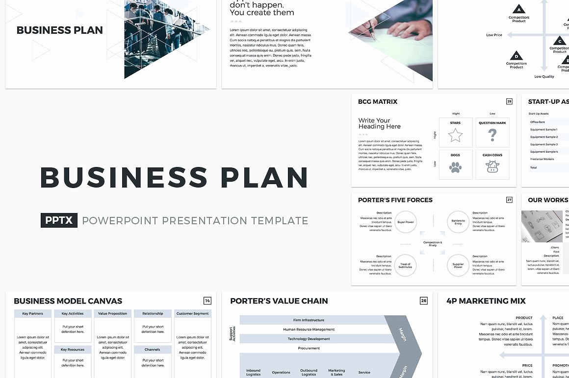 Template for A Business Plan Elegant Business Plan Powerpoint Template Powerpoint Templates