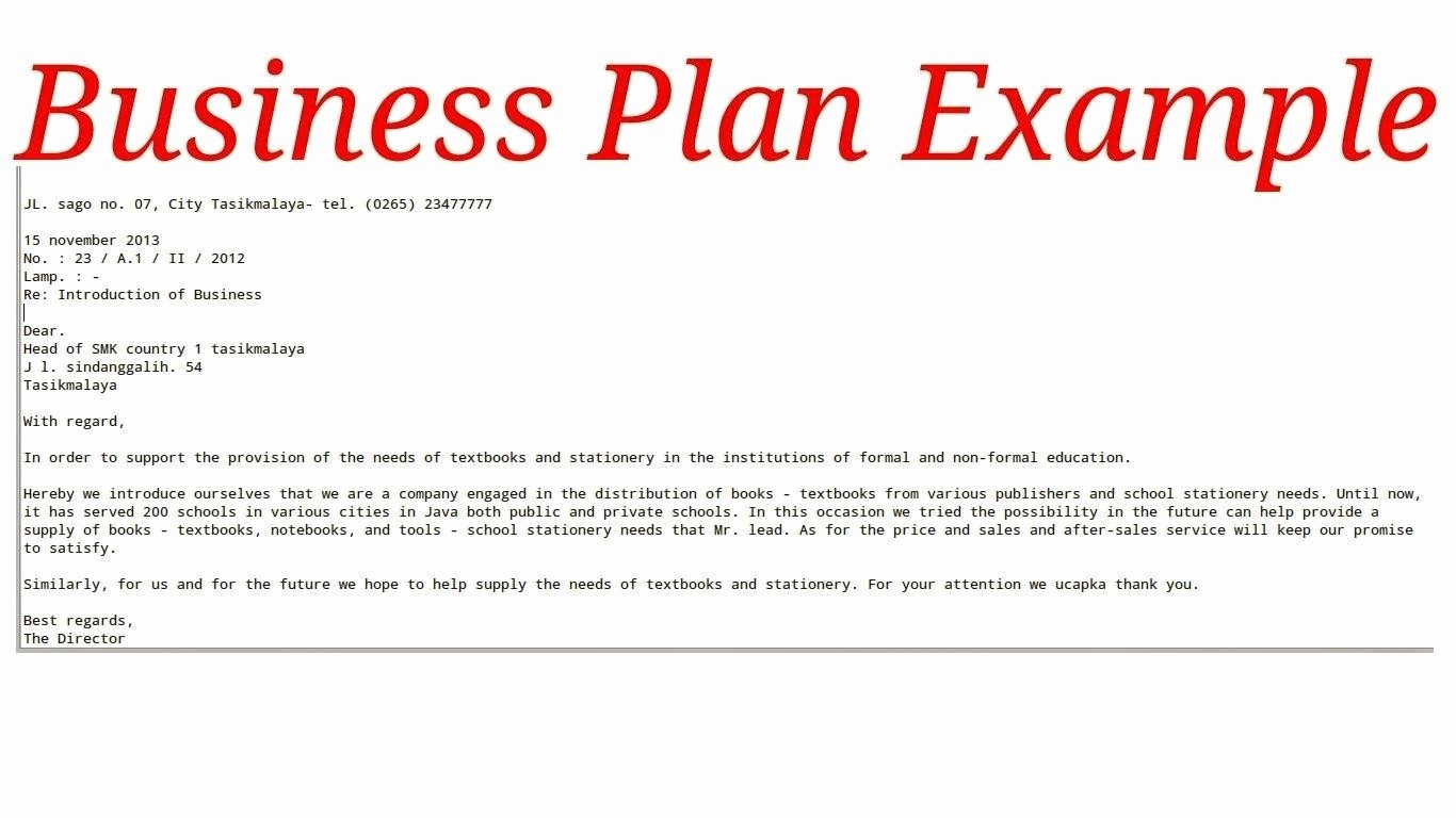 Template for A Business Plan Fresh Template Sample Business Plan Template
