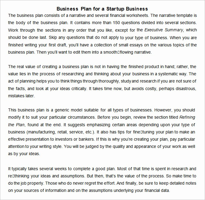 Template for A Business Plan Inspirational 11 Startup Business Plan Templates to Foster Your Pany