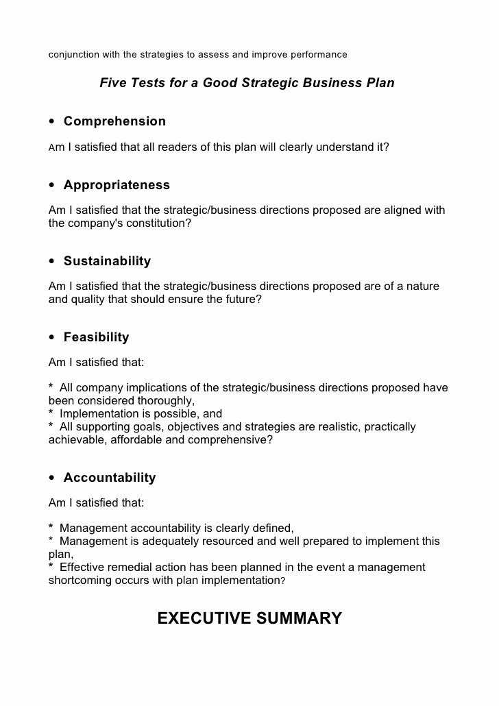 Template for A Business Plan Lovely 5 Prehensive Strategic Business Plan Template