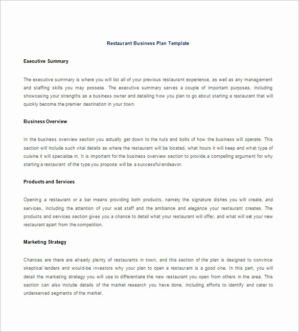 Template for A Business Plan Luxury 15 Free Business Plan Template Word Pdf Template Section