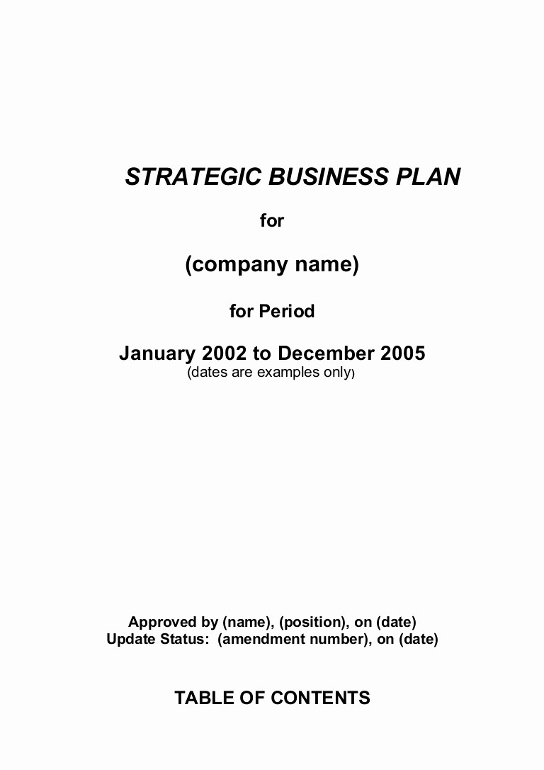 Template for A Business Plan Unique 5 Prehensive Strategic Business Plan Template