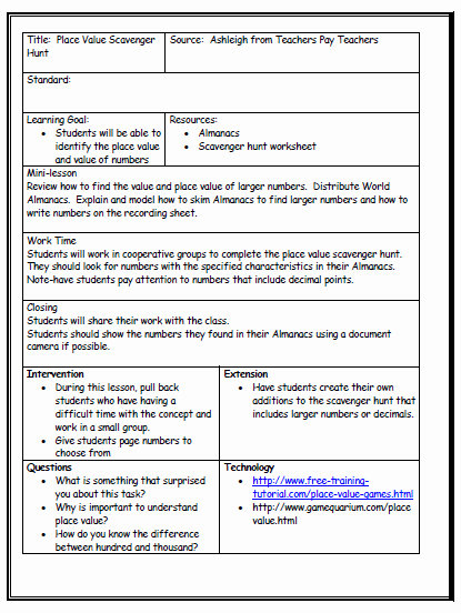 Template for A Lesson Plan Lovely Lesson Plan format On Pinterest