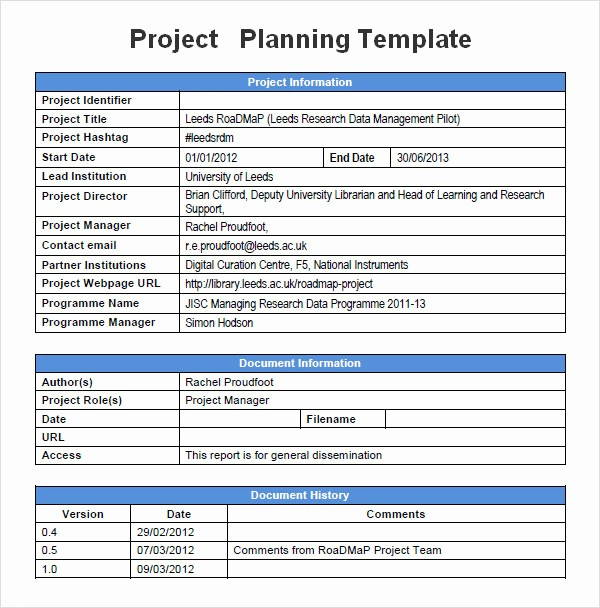 Template for A Project Plan Awesome Project Planning Template 5 Free Download for Word