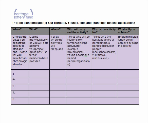 Template for A Project Plan Awesome Project Planning Template
