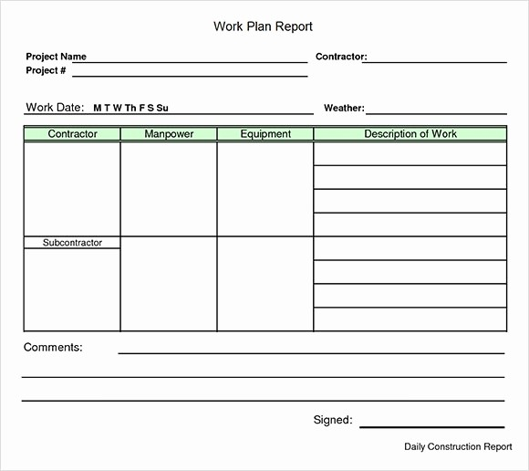Template for A Project Plan Awesome Work Plan Template 13 Download Free Documents for Word