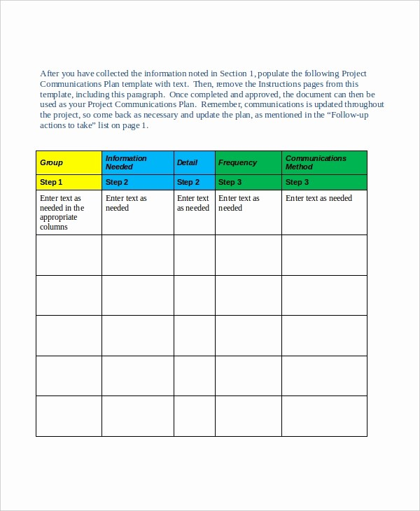 Template for A Project Plan Best Of Project Plan Template 10 Free Word Pdf Document