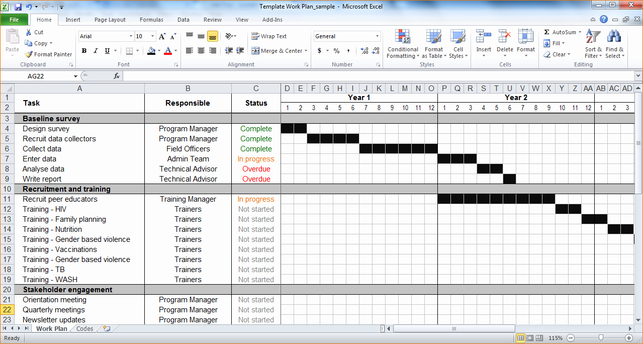 Template for A Project Plan Fresh 7 Project Plan Template Excel