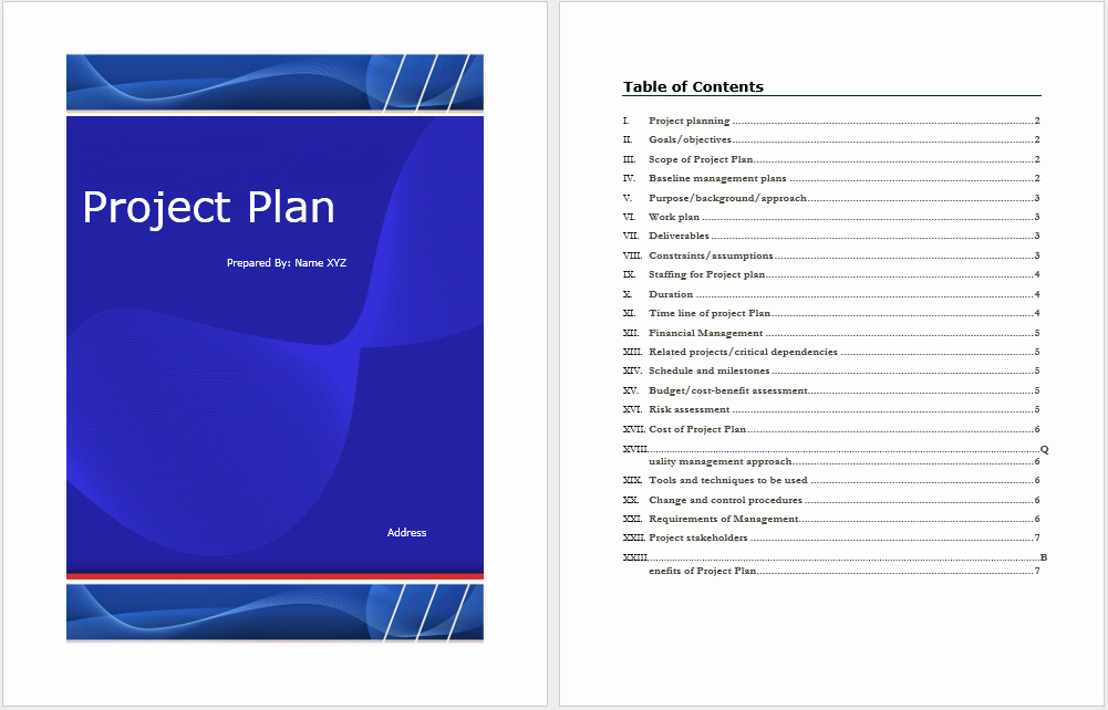 Template for A Project Plan Fresh Project Plan Template – Microsoft Word Templates