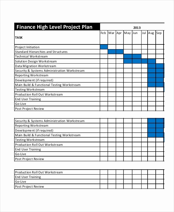 Template for A Project Plan Inspirational Project Plan Template 12 Free Word Psd Pdf Documents