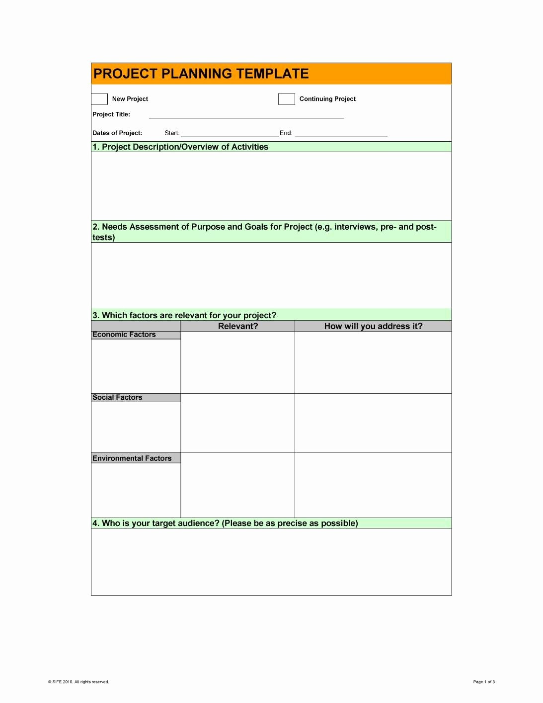 Template for A Project Plan Lovely 48 Professional Project Plan Templates [excel Word Pdf