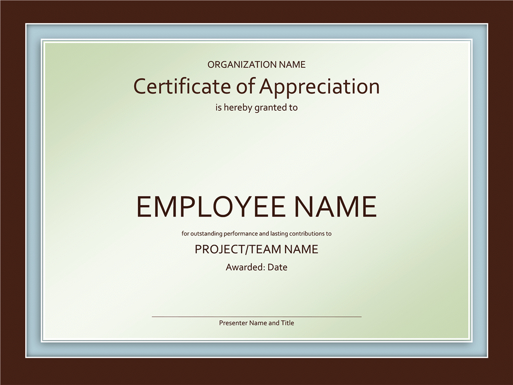 Template for Certificate Of Appreciation Awesome Certificates Fice