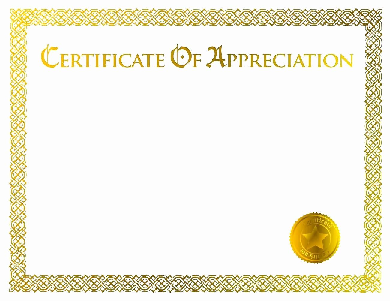 Template for Certificate Of Appreciation Beautiful Blank Certificate Appreciation Templates